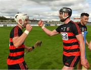 30 August 2020; Dessie Hutchinson, left, and Pauric Mahony of Ballygunner celebrate following their side's victory during the Waterford County Senior Hurling Championship Final match between Passage and Ballygunner at Walsh Park in Waterford. Photo by Seb Daly/Sportsfile