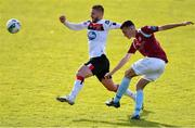 30 August 2020; Lee Devitt of Cobh Ramblers in action against Sean Murray of Dundalk during the Extra.ie FAI Cup Second Round match between Cobh Ramblers and Dundalk at St Colman's Park in Cobh, Cork. Photo by Eóin Noonan/Sportsfile