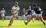 30 August 2020; Martin Keoghan of Tullaroan in action against Conor Delaney of Erin's Own during the Kilkenny County Senior Hurling Championship Round 1 match between Tullaroan and Erin's Own at UPMC Nowlan Park in Kilkenny. Photo by David Fitzgerald/Sportsfile
