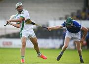 30 August 2020; Shane Walsh of Tullaroan in action against James Mullins of Erin's Own during the Kilkenny County Senior Hurling Championship Round 1 match between Tullaroan and Erin's Own at UPMC Nowlan Park in Kilkenny. Photo by David Fitzgerald/Sportsfile