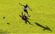 30 August 2020; Sean Murray of Dundalk in action against Lee Devitt of Cobh Ramblers during the Extra.ie FAI Cup Second Round match between Cobh Ramblers and Dundalk at St Colman's Park in Cobh, Cork. Photo by Eóin Noonan/Sportsfile