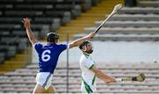 30 August 2020; Bill Gaffney of Tullaroan in action against Conor Delaney of Erin's Own during the Kilkenny County Senior Hurling Championship Round 1 match between Tullaroan and Erin's Own at UPMC Nowlan Park in Kilkenny. Photo by David Fitzgerald/Sportsfile