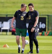 31 August 2020; Republic of Ireland manager Stephen Kenny, left, and coach Keith Andrews during a Republic of Ireland training session at the FAI National Training Centre in Abbotstown, Dublin. Photo by Stephen McCarthy/Sportsfile
