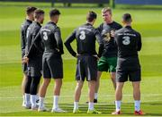 31 August 2020; Republic of Ireland manager Stephen Kenny talks to his players during a Republic of Ireland training session at the FAI National Training Centre in Abbotstown, Dublin. Photo by Stephen McCarthy/Sportsfile