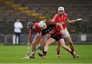 30 August 2020; Dessie Hutchinson of Ballygunner in action against Mikey Cummins of Passage during the Waterford County Senior Hurling Championship Final match between Passage and Ballygunner at Walsh Park in Waterford. Photo by Seb Daly/Sportsfile