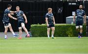 31 August 2020; Leinster players, from left, James Ryan, Dan Leavy, James Tracy and Scott Fardy during Leinster Rugby squad training at the RDS Arena in Dublin. Photo by Ramsey Cardy/Sportsfile
