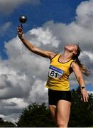 30 August 2020; Roisin Howard of Bandon AC, Cork, competing in the Women's Shot Put event during day four of the Irish Life Health National Senior and U23 Athletics Championships at Morton Stadium in Santry, Dublin. Photo by Sam Barnes/Sportsfile