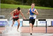 30 August 2020; Joseph Haynes of Armagh AC, right, competing in the Men's 3000m Steeplechase event during day four of the Irish Life Health National Senior and U23 Athletics Championships at Morton Stadium in Santry, Dublin. Photo by Sam Barnes/Sportsfile