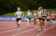 30 August 2020; Iseult O'Donnell of Raheny Shamrock AC, Dublin on her way to winning the Women's 800m event, ahead of Amy O'Donoghue of Emerald AC, Limerick, right, who finished second, during day four of the Irish Life Health National Senior and U23 Athletics Championships at Morton Stadium in Santry, Dublin. Photo by Sam Barnes/Sportsfile