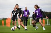 1 September 2020; Conor Hourihane and Jeff Hendrick, right, during a Republic of Ireland training session at FAI National Training Centre in Abbotstown, Dublin. Photo by Stephen McCarthy/Sportsfile