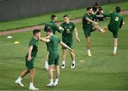 2 September 2020; Seamus Coleman and Robbie Brady, right, during a Republic of Ireland training session at Vasil Levski National Stadium in Sofia, Bulgaria. Photo by Alex Nicodim/Sportsfile