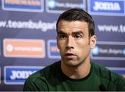 2 September 2020; Seamus Coleman during a Republic of Ireland press conference at Vasil Levski National Stadium in Sofia, Bulgaria. Photo by Alex Nicodim/Sportsfile