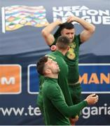 2 September 2020; Shane Duffy during a Republic of Ireland training session at Vasil Levski National Stadium in Sofia, Bulgaria. Photo by Alex Nicodim/Sportsfile