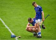 23 August 2020; Austin Gleeson of Mount Sion is consoled by team-mate Alan Kirwan following the Waterford County Senior Hurling Championship Semi-Final match between Mount Sion and Passage at Walsh Park in Waterford. Photo by Eóin Noonan/Sportsfile