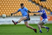 19 July 2019;         11 of Dublin in action against no.22 of Laois     during the EirGrid Leinster GAA Football U20 Championship Final match between Laois and Dublin at Bord na Móna O'Connor Park in Tullamore, Co Offaly. Photo by Piaras Ó Mídheach/Sportsfile