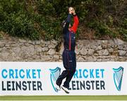 3 September 2020; Ruan Pretorius of Northern Knights catches the ball to take the wicket of Kevin O'Brien of Leinster Lightning during the Test Triangle Inter-Provincial Series 2020 match between Leinster Lightning and Northern Knights at Pembroke Cricket Club in Dublin. Photo by Matt Browne/Sportsfile