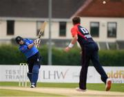 3 September 2020; Kevin O'Brien of Leinster Lightning plays a shot from Mark Adair of Northern Knights during the Test Triangle Inter-Provincial Series 2020 match between Leinster Lightning and Northern Knights at Pembroke Cricket Club in Dublin. Photo by Matt Browne/Sportsfile