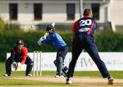 3 September 2020; Simi Singh of Leinster Lightning plays a shot from Ross Adair of Northern Knights during the Test Triangle Inter-Provincial Series 2020 match between Leinster Lightning and Northern Knights at Pembroke Cricket Club in Dublin. Photo by Matt Browne/Sportsfile