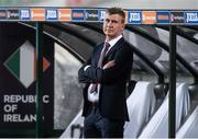 3 September 2020; Republic of Ireland manager Stephen Kenny ahead of the UEFA Nations League B match between Bulgaria and Republic of Ireland at Vasil Levski National Stadium in Sofia, Bulgaria. Photo by Alex Nicodim/Sportsfile