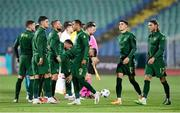 3 September 2020; Republic of Ireland players ahead of the UEFA Nations League B match between Bulgaria and Republic of Ireland at Vasil Levski National Stadium in Sofia, Bulgaria. Photo by Alex Nicodim/Sportsfile