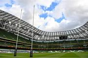 4 September 2020; A general view of the Aviva Stadium ahead of the Guinness PRO14 Semi-Final match between Leinster and Munster at the Aviva Stadium in Dublin. Photo by Ramsey Cardy/Sportsfile