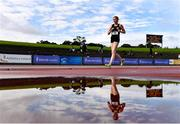5 September 2020; Emily MacHugh of Naas AC, Kildare, on her way to winning the Junior Women's 3k Walk event during the Irish Life Health National Junior Track and Field Championships at Morton Stadium in Santry, Dublin. Photo by Sam Barnes/Sportsfile