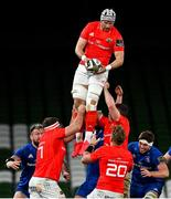 4 September 2020; Fineen Wycherley of Munster during the Guinness PRO14 Semi-Final match between Leinster and Munster at the Aviva Stadium in Dublin. Photo by Brendan Moran/Sportsfile