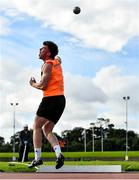 5 September 2020; Sean Carolan of Nenagh Olympic AC, Tipperary, on his way to winning the Junior Men's Shot Put event during the Irish Life Health National Junior Track and Field Championships at Morton Stadium in Santry, Dublin. Photo by Sam Barnes/Sportsfile