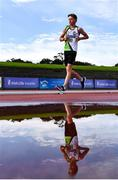 5 September 2020; Jake O'Brien of Moy Valley AC, Mayo, on his way to finishing second in the Men's 5k Walk event during the Irish Life Health National Junior Track and Field Championships at Morton Stadium in Santry, Dublin. Photo by Sam Barnes/Sportsfile