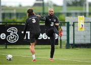 5 September 2020; David McGoldrick, right, with Jeff Hendrick during a Republic of Ireland training session at the FAI National Training Centre in Abbotstown, Dublin. Photo by Stephen McCarthy/Sportsfile