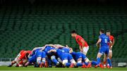4 September 2020; A general view of a scrum during the Guinness PRO14 Semi-Final match between Leinster and Munster at the Aviva Stadium in Dublin. Photo by Brendan Moran/Sportsfile