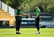 5 September 2020; Aaron McEneff, left, and Sean Kavanagh of Shamrock Rovers prior to the SSE Airtricity League Premier Division match between Shamrock Rovers and Bohemians at Tallaght Stadium in Dublin. Photo by Seb Daly/Sportsfile
