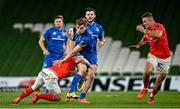 4 September 2020; Garry Ringrose of Leinster is tackled by Craig Casey of Munster during the Guinness PRO14 Semi-Final match between Leinster and Munster at the Aviva Stadium in Dublin. Photo by Ramsey Cardy/Sportsfile