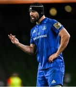 4 September 2020; Scott Fardy of Leinster during the Guinness PRO14 Semi-Final match between Leinster and Munster at the Aviva Stadium in Dublin. Photo by Ramsey Cardy/Sportsfile