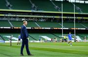 4 September 2020; Leinster head coach Leo Cullen ahead of the Guinness PRO14 Semi-Final match between Leinster and Munster at the Aviva Stadium in Dublin. Photo by Ramsey Cardy/Sportsfile