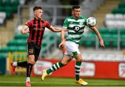 5 September 2020; Aaron Greene of Shamrock Rovers in action against Andy Lyons of Bohemians during the SSE Airtricity League Premier Division match between Shamrock Rovers and Bohemians at Tallaght Stadium in Dublin. Photo by Eóin Noonan/Sportsfile
