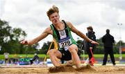 5 September 2020; Jonathan Cochrane of Ballymena and Antrim AC, competing in the Junior Men's Long Jump event during the Irish Life Health National Junior Track and Field Championships at Morton Stadium in Santry, Dublin. Photo by Sam Barnes/Sportsfile