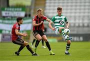 5 September 2020; Ronan Finn of Shamrock Rovers in action against Keith Buckley, left, and Kris Twardek of Bohemians during the SSE Airtricity League Premier Division match between Shamrock Rovers and Bohemians at Tallaght Stadium in Dublin. Photo by Seb Daly/Sportsfile