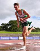 5 September 2020; James Hyland of Raheny Shamrock AC, Dublin, on his way to winning the Junior Men's 3000m Steeplechase event during the Irish Life Health National Junior Track and Field Championships at Morton Stadium in Santry, Dublin. Photo by Sam Barnes/Sportsfile