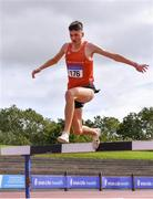 5 September 2020; Mark Hanrahan of Ennis Track AC, Clare on his way to finishing second in the Junior Men's 3000m Steeplechase event during the Irish Life Health National Junior Track and Field Championships at Morton Stadium in Santry, Dublin. Photo by Sam Barnes/Sportsfile
