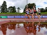 5 September 2020; A general view of the field during the Junior Women's 3000m Steeplechase event during the Irish Life Health National Junior Track and Field Championships at Morton Stadium in Santry, Dublin. Photo by Sam Barnes/Sportsfile