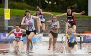5 September 2020; Kirsten Monaghan of St Coca's AC, Kildare, second from left, leads the field whilst competing in the Junior Women's 3000m Steeplechase event during the Irish Life Health National Junior Track and Field Championships at Morton Stadium in Santry, Dublin. Photo by Sam Barnes/Sportsfile