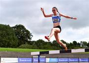 5 September 2020; Dearbhail Cuddy of Tullamore Harriers AC, Offaly, competing in the Junior Women's 3000m Steeplechase event during the Irish Life Health National Junior Track and Field Championships at Morton Stadium in Santry, Dublin. Photo by Sam Barnes/Sportsfile