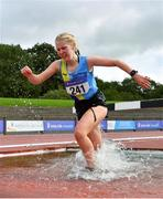 5 September 2020; Niamh McDonald of Ballyroan Abbeyleix and District AC, competing in the Junior Women's 3000m Steeplechase event during the Irish Life Health National Junior Track and Field Championships at Morton Stadium in Santry, Dublin. Photo by Sam Barnes/Sportsfile