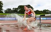 5 September 2020; Sarah Gilhooley of Galway City Harriers AC, on her way to finishing second in the Junior Women's 3000m Steeplechase event during the Irish Life Health National Junior Track and Field Championships at Morton Stadium in Santry, Dublin. Photo by Sam Barnes/Sportsfile