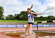 5 September 2020; Cara McNally of Lusk AC, Dublin, on her way to winning the Junior Women's 3000m Steeplechase event during the Irish Life Health National Junior Track and Field Championships at Morton Stadium in Santry, Dublin. Photo by Sam Barnes/Sportsfile