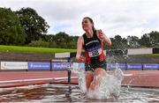 5 September 2020; Ciara Dolan of Menapians AC, Wexford, competing in the Junior Women's 3000m Steeplechase event during the Irish Life Health National Junior Track and Field Championships at Morton Stadium in Santry, Dublin. Photo by Sam Barnes/Sportsfile