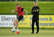 5 September 2020; Republic of Ireland manager Stephen Kenny and James McClean, left, during a Republic of Ireland training session at the FAI National Training Centre in Abbotstown, Dublin. Photo by Stephen McCarthy/Sportsfile