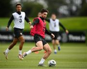 5 September 2020; Sean Maguire and Callum Robinson, left, during a Republic of Ireland training session at FAI National Training Centre in Abbotstown, Dublin. Photo by Stephen McCarthy/Sportsfile