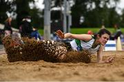 5 September 2020; Laura Frawley of Emerald AC, Limerick, competing in the Junior Women's Long Jump event during the Irish Life Health National Junior Track and Field Championships at Morton Stadium in Santry, Dublin. Photo by Sam Barnes/Sportsfile